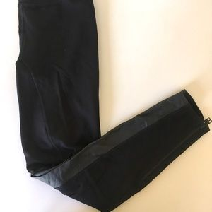 Madewell leather lined leggings size 4